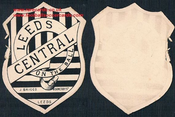 1890s Leeds Central rugby football card by BRIGGS ex-rare